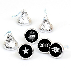 Graduation Cheers - Round Candy Labels 2019 Graduation Party Favors - Fits Hershey's Kisses 108 ct