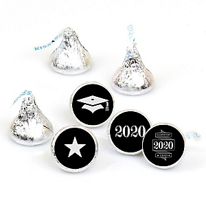Graduation Cheers - Round Candy Labels 2020 Graduation Party Favors - Fits Hershey's Kisses 108 ct