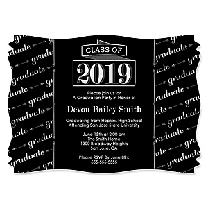 Graduation Cheers - Personalized 2019 Graduation Invitations - Set of 12