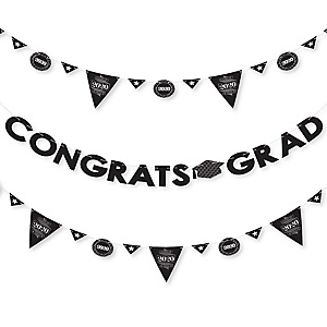 Graduation Cheers - 2020 Graduation Party Letter Banner Decoration - 36 Banner Cutouts and Congrats Grad Banner Letters