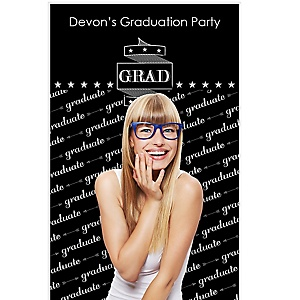 """Graduation Cheers - Personalized Graduation Party Photo Booth Backdrops - 36"""" x 60"""""""