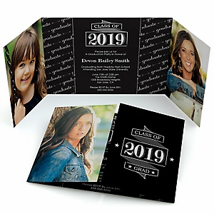 Graduation Cheers - Personalized Photo 2019 Graduation Invitations - Set of 12