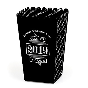 Graduation Cheers - Personalized 2019 Graduation Party Popcorn Favor Treat Boxes - Set of 12