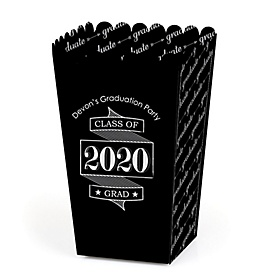 Graduation Cheers - Personalized 2020 Graduation Party Popcorn Favor Treat Boxes - Set of 12