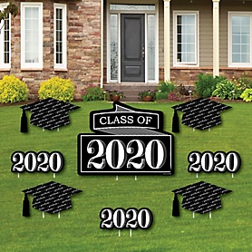 Graduation Cheers - Yard Sign & Outdoor Lawn Decorations - 2020 Graduation Party Yard Signs - Set of 8