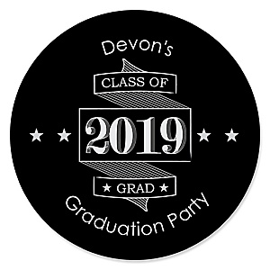 Graduation Cheers - Personalized 2019 Graduation Sticker Labels - 24 ct