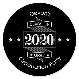 Graduation Cheers - Personalized 2020 Graduation Sticker Labels - 24 ct