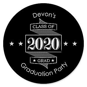 Graduation Cheers - Personalized 2020 Graduation Sticker Labels - 24 ct