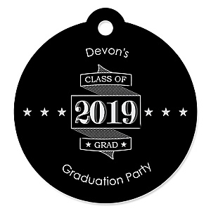 Graduation Cheers - Personalized 2019 Graduation Party Die-Cut Tags - 20 ct