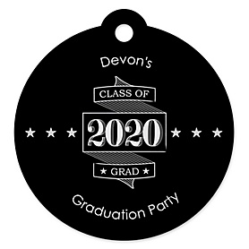 Graduation Cheers - Personalized 2020 Graduation Party Die-Cut Tags - 20 ct