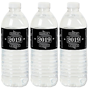 Graduation Cheers - 2019 Graduation Party Water Bottle Sticker Labels - Set of 20