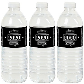 Graduation Cheers - 2020 Graduation Party Water Bottle Sticker Labels - Set of 20