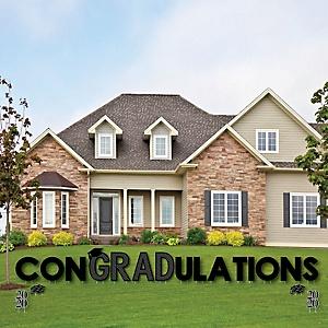 conGRADulations - 2020 Graduation Cheers - Yard Sign Outdoor Lawn Decorations - Graduation Party Yard Signs