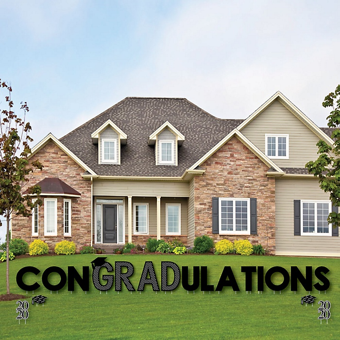 conGRADulations - 2020 Graduation Cheers - Yard Sign Outdoor Lawn Decorations - Graduation Party Yard Signs