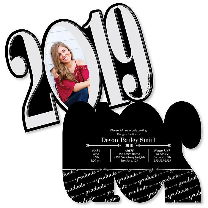 Graduation Cheers - Personalized 2019 Photo Graduation Announcement - Set of 12