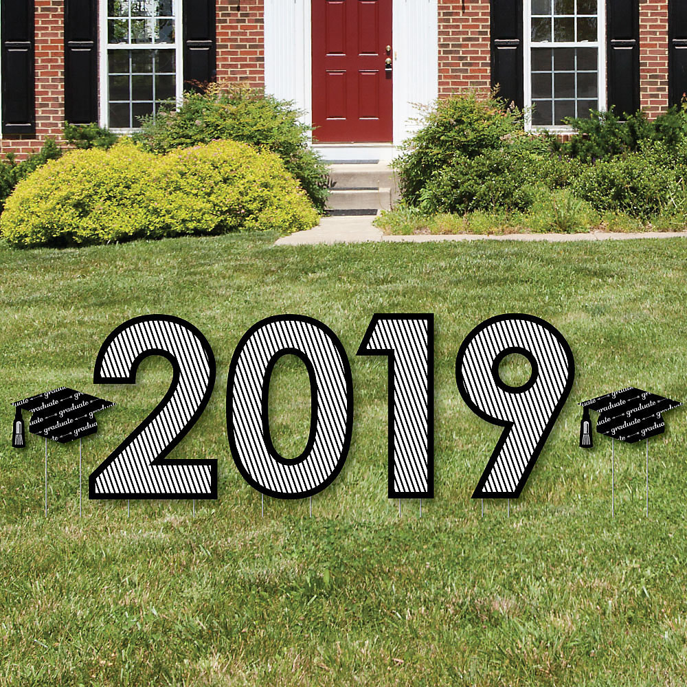 db3376d0f7f5 ... Outdoor Lawn Decorations - Graduation Party Yard Signs. Double tap to  zoom