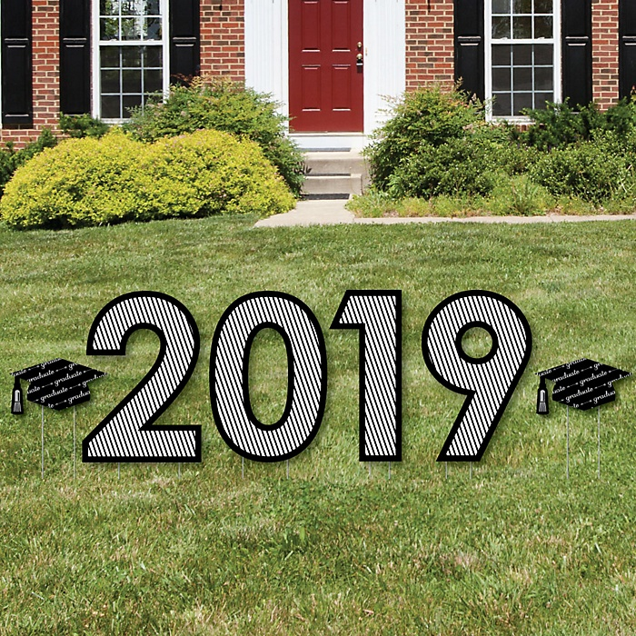 2019 - Graduation Cheers - Yard Sign Outdoor Lawn Decorations - Graduation Party Yard Signs