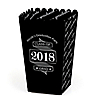 Graduation Cheers - Personalized 2018 Graduation Party Popcorn Favor Treat Boxes - Set of 12