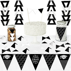 Graduation Cheers - Diy Pennant Banner Decorations - Graduation Party Triangle Kit - 99 Pieces