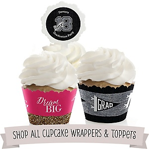 Graduation Cupcake Wrappers & Toppers