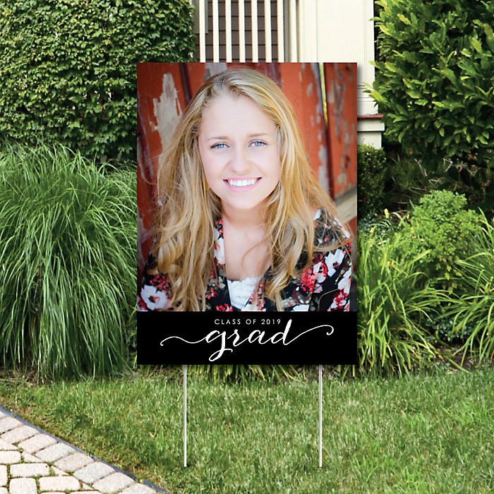 Graduation Photo Yard Sign - 2019 Grad Party Decorations