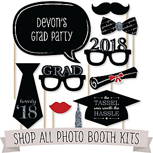 Personalized Graduation Photo Booth Prop Kits