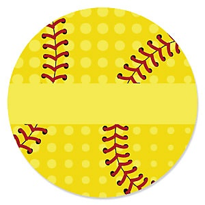 Grand Slam - Fastpitch Softball - Baby Shower Theme