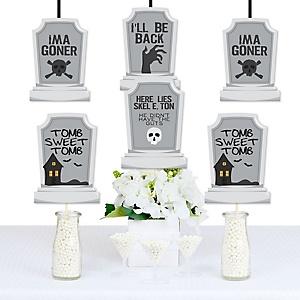 Graveyard Tombstones -  Decorations DIY Halloween Party Essentials - Set of 20