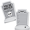 Graveyard Tombstones - Shaped Fill-In Invitations - Halloween  Party Invitation Cards with Envelopes - Set of 12
