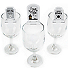 Graveyard Tombstones - Shaped Halloween Party Wine Glass Markers - Set of 24