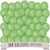 Lime Green - Baby Shower Latex Balloons - 100 ct