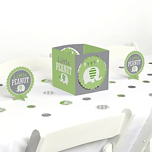 Green Elephant - Baby Shower or Birthday Party Centerpiece and Table Decoration Kit