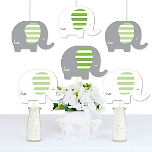 Green Elephant - Decorations DIY Baby Shower or Birthday Party Essentials - Set of 20