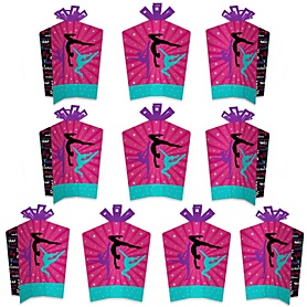 Tumble, Flip & Twirl - Gymnastics - Table Decorations - Birthday Party or Gymnast Party Fold and Flare Centerpieces - 10 Count
