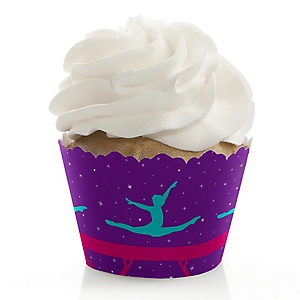 Tumble, Flip & Twirl - Gymnastics - Birthday Party or Gymnast Party Decorations - Party Cupcake Wrappers - Set of 12