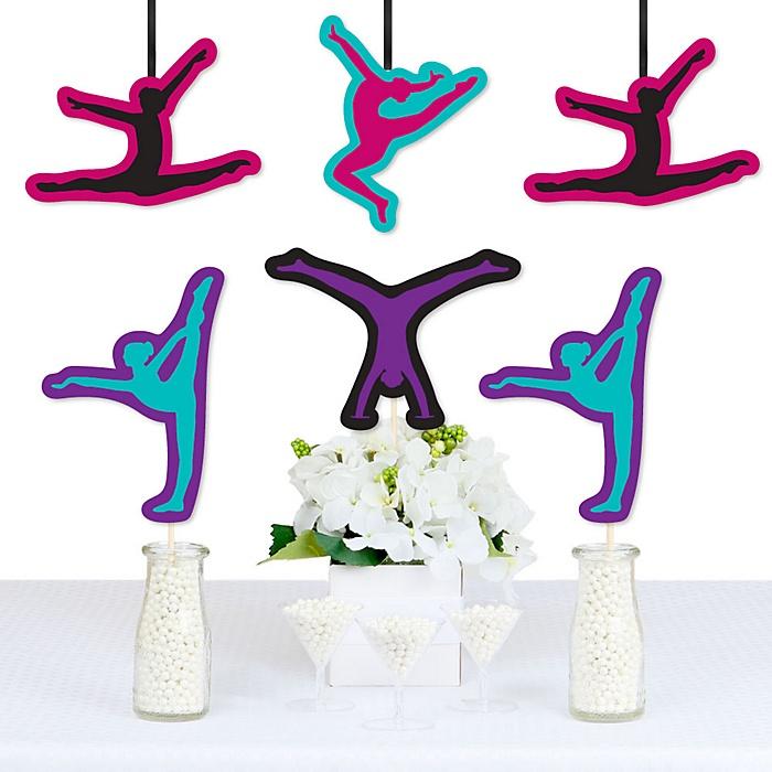 Tumble, Flip & Twirl - Gymnastics - Decorations DIY Birthday Party or Gymnast Party Essentials - Set of 20