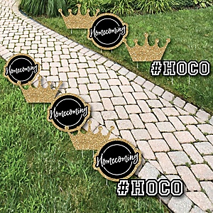 HOCO Dance - Crown Lawn Decorations - Outdoor Homecoming Yard Decorations - 10 Piece