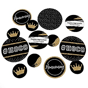HOCO Dance - Personalized Homecoming Giant Circle Confetti - HOCO Dance Decorations - Large Confetti 27 Count