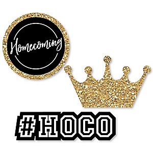 HOCO Dance - DIY Shaped Homecoming Paper Cut-Outs - 24 Ct.