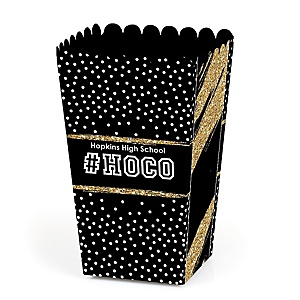 HOCO Dance - Personalized Homecoming Popcorn Favor Treat Boxes - Set of 12