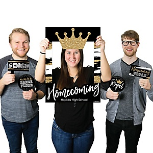 HOCO Dance - Personalized Homecoming Selfie Photo Booth Picture Frame & Props - Printed on Sturdy Material