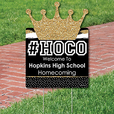 hoco dance party decorations homecoming personalized welcome yard
