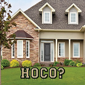 HOCO Dance - Yard Sign Outdoor Lawn Decorations - Homecoming Proposal Yard Signs - HOCO