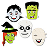 Halloween Monsters - Skeleton, Mummy, Vampire, Frankenstein & Witch DIY Shaped Halloween Party Cut-Outs - 24 ct