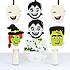 Halloween Monsters - Mummy, Vampire, Frankenstein & Witch Decorations DIY Halloween Party Essentials - Set of 20
