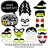 Halloween Monsters - 20 Piece Halloween Party Photo Booth Props Kit