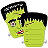 Halloween Monsters - Shaped Fill-In Invitations - Frankenstein Halloween Party Invitation Cards with Envelopes - Set of 12