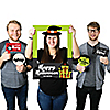 Halloween Monsters - Personalized Frankenstein Halloween Party Selfie Photo Booth Picture Frame & Props - Printed on Sturdy Material