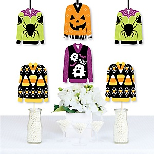 Halloween Ugly Sweater - Decorations DIY Halloween Party Essentials - Set of 20