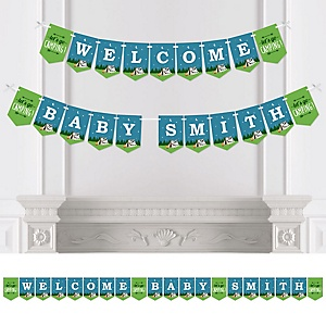 Happy Camper - Personalized Camping Baby Shower Bunting Banner & Decorations